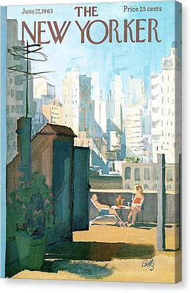 New Yorker June 22nd, 1963 Canvas Print by Arthur Getz