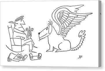 New Yorker June 22nd, 1963 Canvas Print by Saul Steinberg