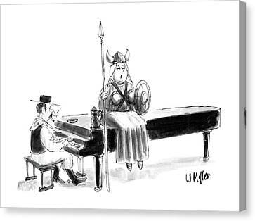 Operatic Canvas Print - New Yorker June 22nd, 1987 by Warren Miller