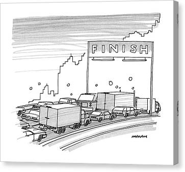 New Yorker June 23rd, 1986 Canvas Print by Mick Stevens