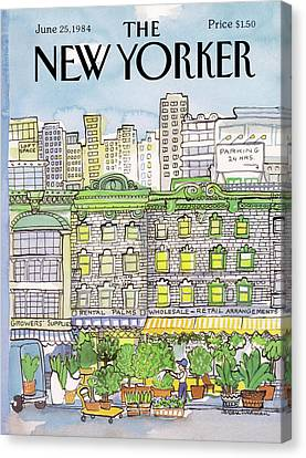 1984 Canvas Print - New Yorker June 25th, 1984 by Barbara Westman