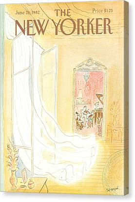 New Yorker June 28th, 1982 Canvas Print by Jean-Jacques Sempe