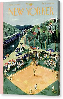 New Yorker June 29th, 1946 Canvas Print by Ilonka Karasz
