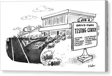 New Yorker June 29th, 1987 Canvas Print by Dana Fradon