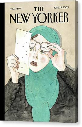 New Yorker June 29th, 2009 Canvas Print