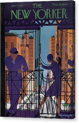 New Yorker June 3rd, 1933 Canvas Print by Adolph K. Kronengold