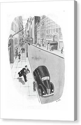 New Yorker June 3rd, 1944 Canvas Print by Robert J. Day