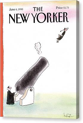 New Yorker June 4th, 1990 Canvas Print by Arnie Levin
