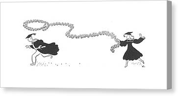 Daisy Canvas Print - New Yorker June 6th, 1942 by  Alain