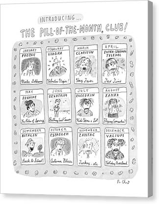 New Yorker June 8th, 1998 Canvas Print by Roz Chast