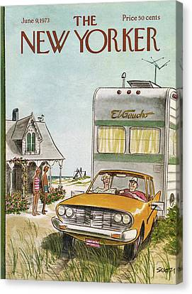New Yorker June 9th, 1973 Canvas Print by Charles Saxon
