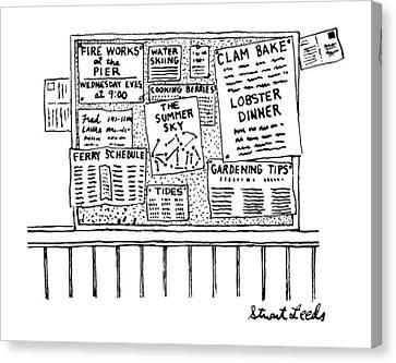 New Yorker June 9th, 1986 Canvas Print by Stuart Leeds