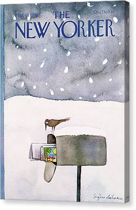 Mailboxes Canvas Print - New Yorker March 10th, 1980 by Eugene Mihaesco