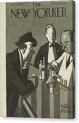 New Yorker March 11th, 1950 Canvas Print by Peter Arno