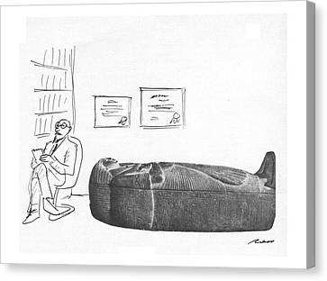 Pharaoh Canvas Print - New Yorker March 12th, 1979 by Al Ross