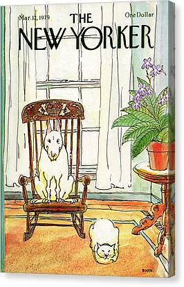 Pet Canvas Print - New Yorker March 12th, 1979 by George Booth