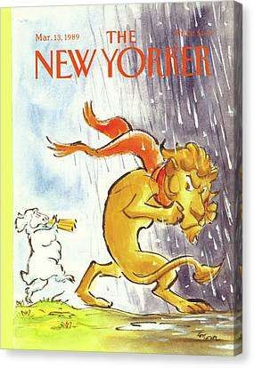 New Yorker March 13th, 1989 Canvas Print