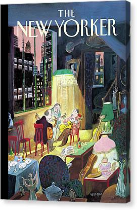 New Yorker March 13th, 2006 Canvas Print by Jean-Jacques Sempe