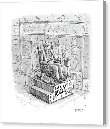 Rocking Chairs Canvas Print - New Yorker March 13th, 2017 by Roz Chast
