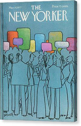 New Yorker March 14th, 1977 Canvas Print by Charles Saxon