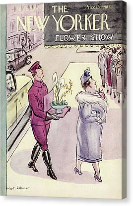 New Yorker March 16th, 1940 Canvas Print by Helen E. Hokinson