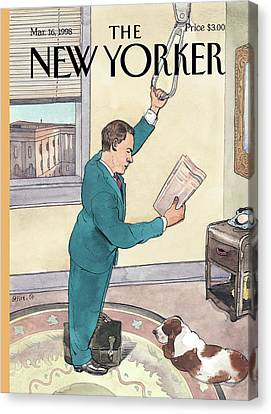 New Yorker March 16th, 1998 Canvas Print by Barry Blitt