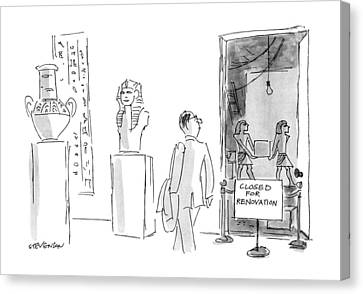 Ancient Egyptian Canvas Print - New Yorker March 18th, 1991 by James Stevenson