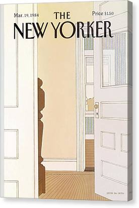 1984 Canvas Print - New Yorker March 19th, 1984 by Gretchen Dow Simpson