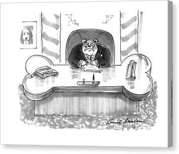 New Yorker March 1st, 1993 Canvas Print by Bernard Schoenbaum