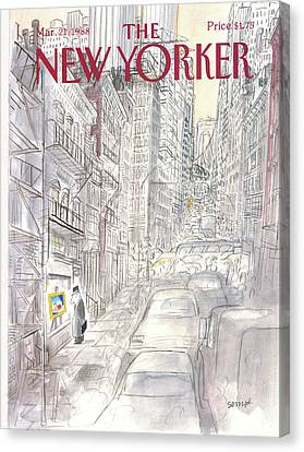 New Yorker March 21st, 1988 Canvas Print