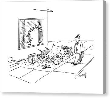 House Pet Canvas Print - New Yorker March 21st, 1988 by Tom Cheney