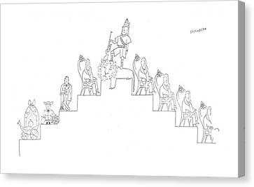 New Yorker March 22nd, 1958 Canvas Print by Saul Steinberg