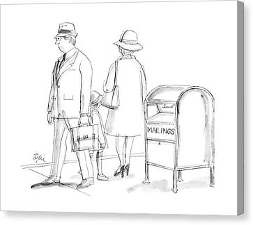 New Yorker March 23rd, 1987 Canvas Print by Everett Opie