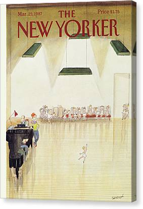 New Yorker March 23rd, 1987 Canvas Print by Jean-Jacques Sempe