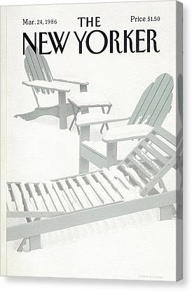 New Yorker March 24th, 1986 Canvas Print