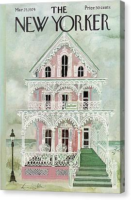 Porch Canvas Print - New Yorker March 25th, 1974 by Laura Jean Allen
