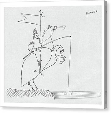 New Yorker March 26th, 1960 Canvas Print by Saul Steinberg