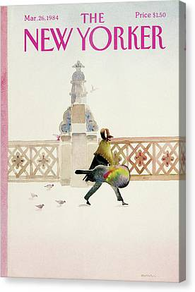New Yorker March 26th, 1984 Canvas Print by Susan Davis
