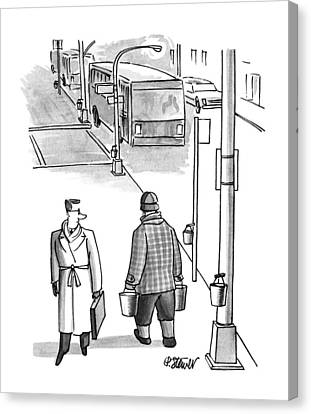 Lamp Post Canvas Print - New Yorker March 26th, 1990 by Peter Steiner