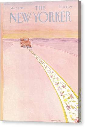 New Yorker March 28th, 1983 Canvas Print by James Stevenson