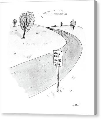 New Yorker March 28th, 1988 Canvas Print by Roz Chast