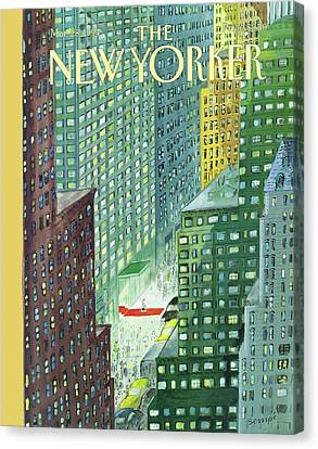 New Yorker March 28th, 1994 Canvas Print by Jean-Jacques Sempe