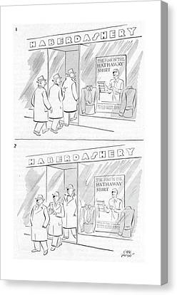 New Yorker March 29th, 1952 Canvas Print