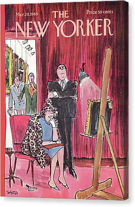 New Yorker March 29th, 1969 Canvas Print by Charles Saxon