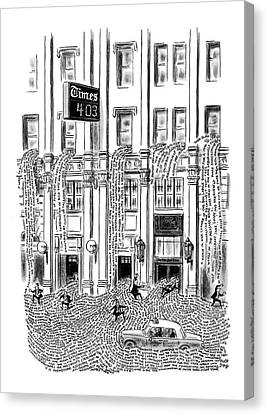 New Yorker March 29th, 1969 Canvas Print by Robert J. Day