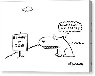 New Yorker March 29th, 1999 Canvas Print by Charles Barsotti
