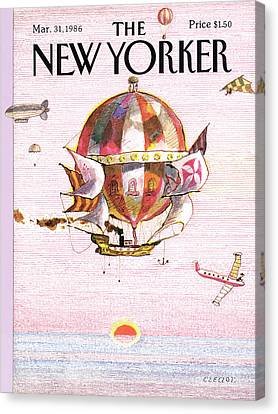 New Yorker March 31st, 1986 Canvas Print
