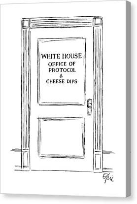 Cheese Canvas Print - New Yorker March 3rd, 1986 by Everett Opie