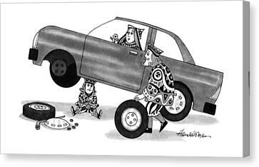 New Yorker March 4th, 1991 Canvas Print by J.B. Handelsman