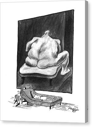 Insecurity Canvas Print - New Yorker March 7th, 1994 by Peter Porges